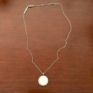 Michael Kors Silvertone Heritage Necklace